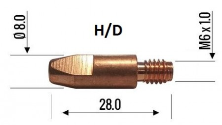 Binzel Contact Tip 1.2mm M6 H/D 140.0382