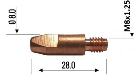 Binzel Contact Tip 1.0mm M8 140.0313