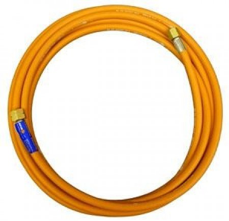 "Weldspares 5M X 10mm Orange Hose 2X3/8"" Fittings 040714P"