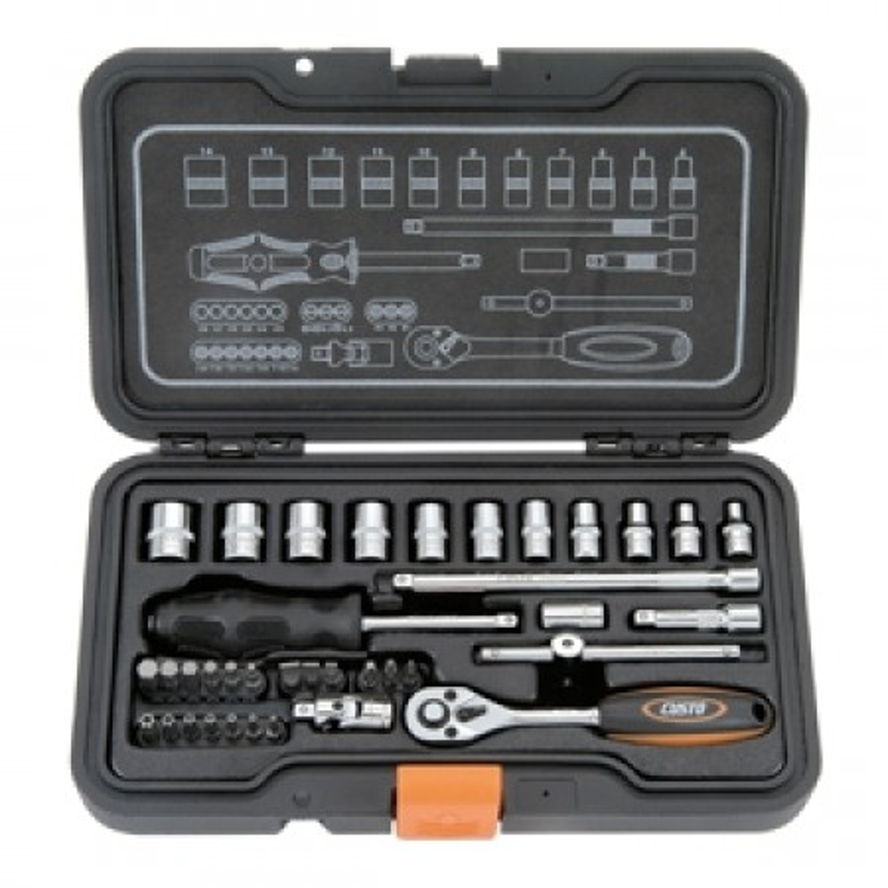 "Custor 1/4"" Socket & Ratchet Handle Kit 37pc"