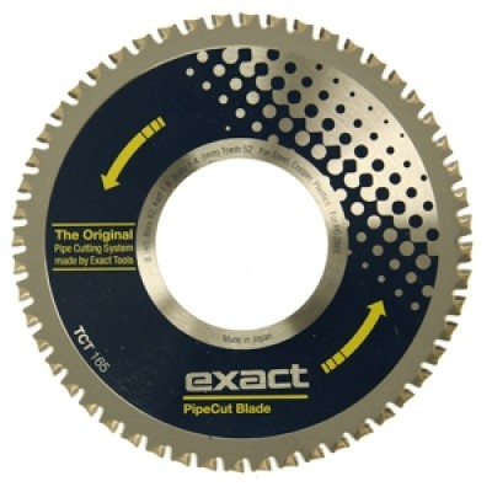 Exact TCT 165 Blade 165mm - (Aluminium, Copper, Plastic, Steel)