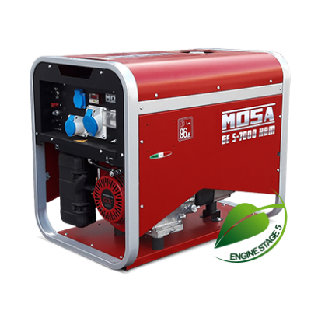 MOSA GES-7000 HBM Petrol Silenced Gen 110/230V 6 kVA