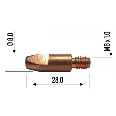 Binzel Contact Tip 0.8mm M6 140.0051