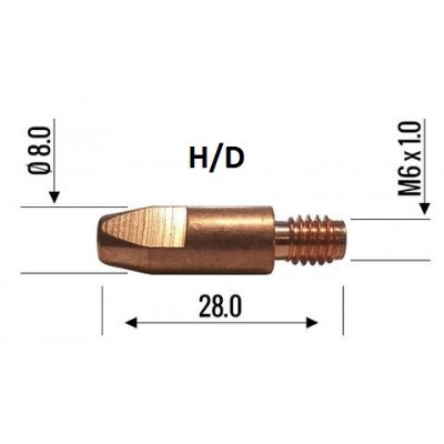 Binzel Contact Tip 0.8mm M6 H/D 140.0054
